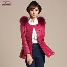2013 NEW Ladies' genuine leather coat,Elegant fur leather clothing sheepskin jacket outerwear Free shipping FC137