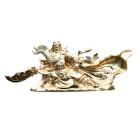 Car Dashboard Decoration Guan Yu Zinc Alloy Handmade Figurines Creative Home Car Ornaments Car Interior accessories
