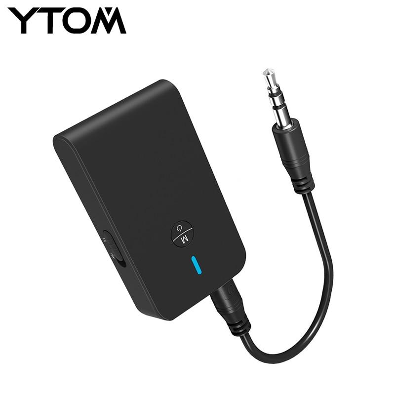 Bluetooth 4,1 Sender/Empfänger, 2-in-1 Wireless 3,5mm Adapter CSR Empfänger Für TV Kopfhörer PC Zuhause Sound System lautsprecher