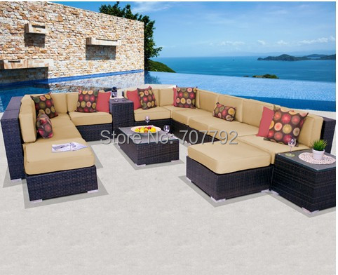 2017 Hot Sale 15 Piece Outdoor Lowes Wicker Patio Furniture(China  (Mainland))