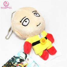 [SGDOLL] 1pc One Punch Man Saitama Wearing Cloak Plush Toys Stuffed Key Bag Doll Charms Arcade Prize Free Shipping T1436