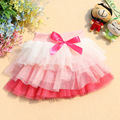 W-8, Baby girls, Children girls cake skirt, ball gown mesh mini skirt, 3 colors ruffles