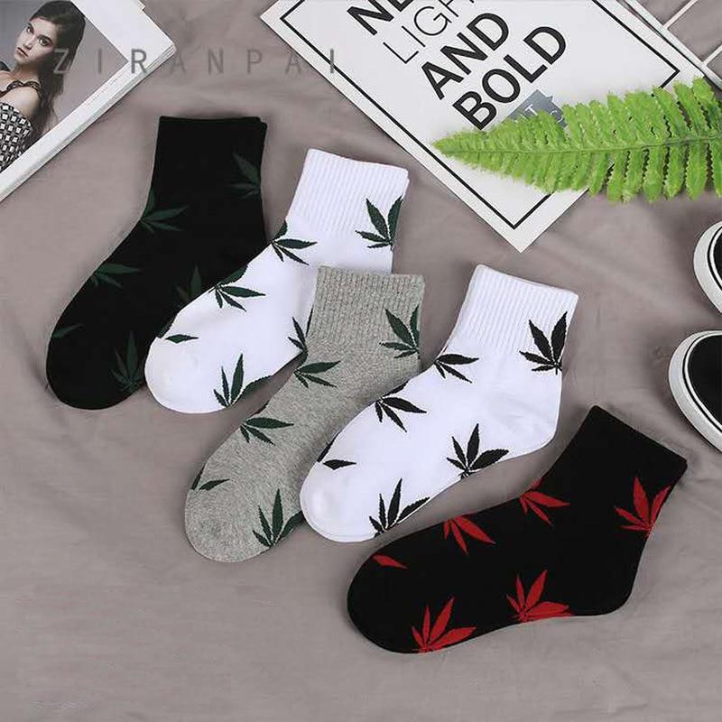 Maple Leaf   Socks   Cotton Skateboard Hip Hop Maple Leaf   Socks   Women Street Boat   Socks   for Female Funny   Socks   Spring Summer Autumn