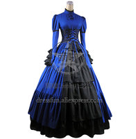 Victorian Lolita Steampunk Corset Dress Ball Gown Prom With Elegant Ruffles And Beautiful Bowknot Decorated Charming For Party