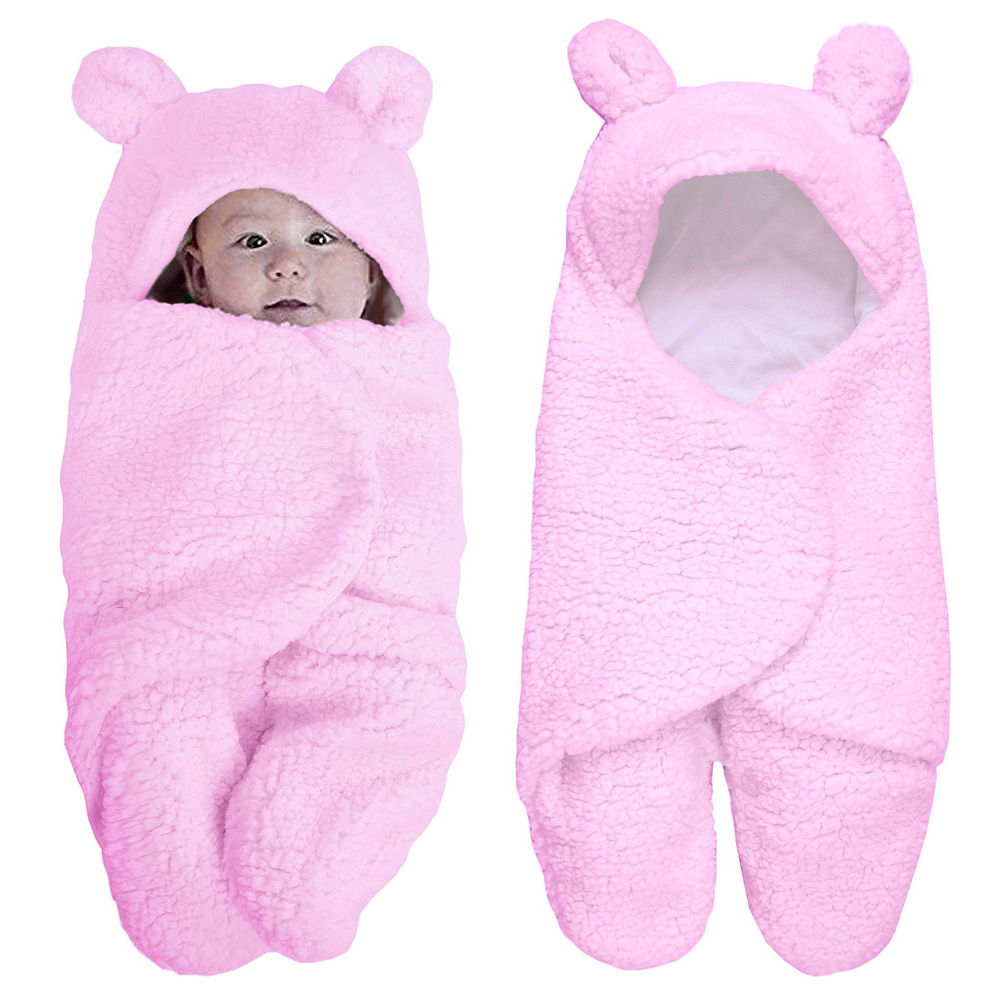 Baby Schlafsack Neugeborenen Baby Winter Bettwäsche Pyjamas Kinderwagen Tasche Verdickung Warme Wolle Lamm Decke 0-3 Jahre Alt