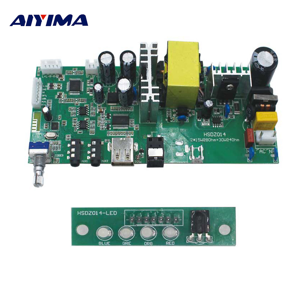 AIYIMA 2.1 Subwoofer Power HIFI Digital Bluetooth Amplifiers Audio Board Mini Amplificador DIY For Home Theater Sound System