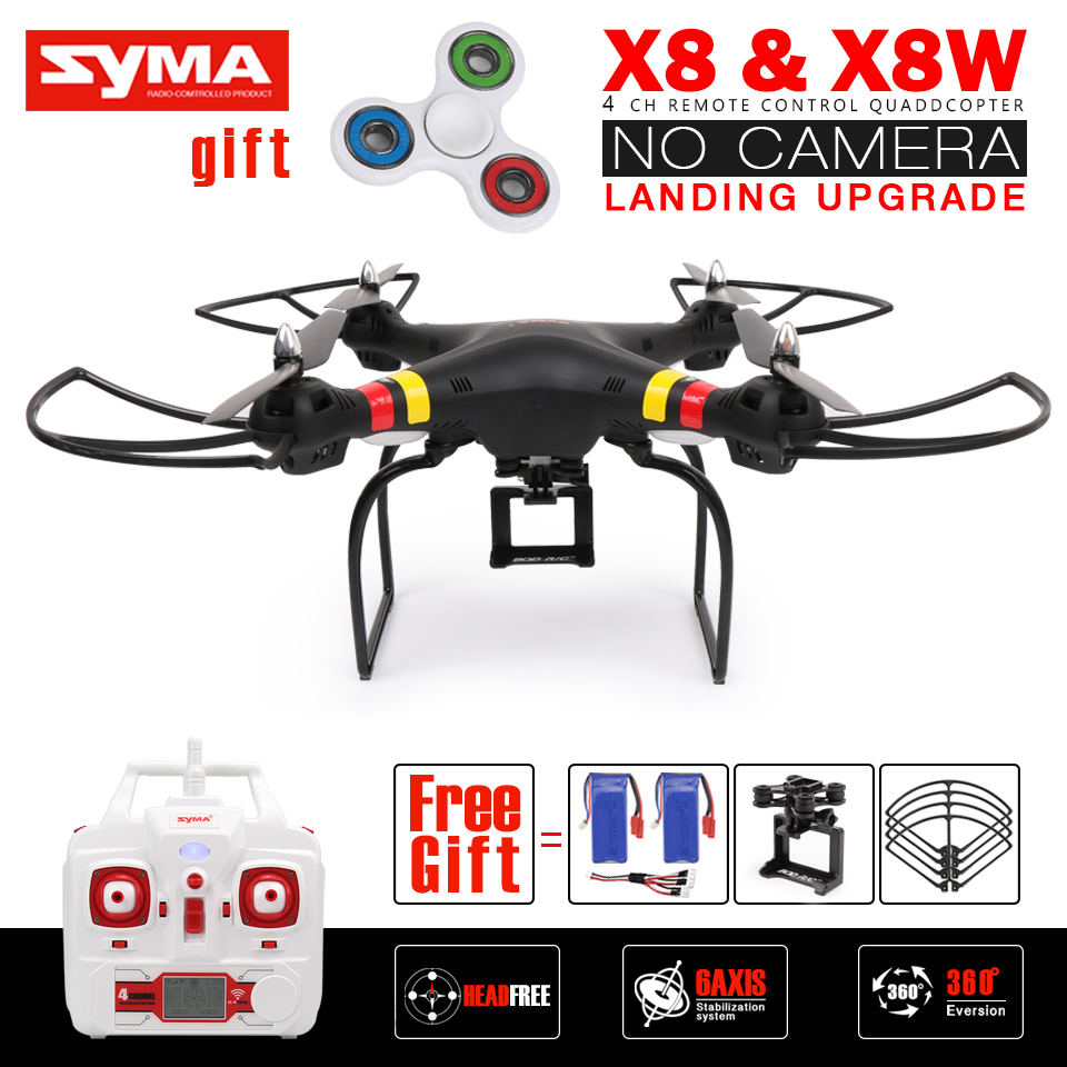 Syma X8 X8W X8G RC Drone NO Camera 2.4G 6Axis Landing Upgrade RC Quadcopter Helicopter Can Fit Gopro / SJcam Camera VS X8HW X8HG mini drone rc helicopter quadrocopter headless model drons remote control toys for kids dron copter vs jjrc h36 rc drone hobbies