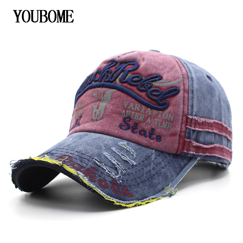 YOUBOME   Baseball     Cap   Hats For Men Women Brand Snapback   Caps   MaLe Vintage Washed Cotton Embroidery Casquette Bone Dad Hat   Caps