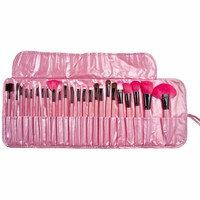 24 Pcs Make Up Brushes Set Case Shadows Foundation Powder Brush Kits With Professional Makeup Bag