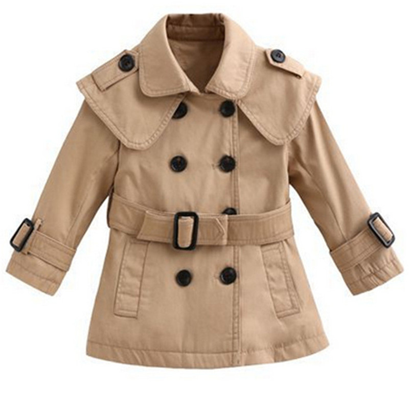 Fashion Autumn Baby Girl   Trench   Coat Children Clothing Girls Jacket Kids Clothe Outerwear Casual Long Sleeve Infantil Coats