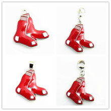 Hot Selling MLB Boston Red Sox Baseball Team Logo Dangle Charms Fit DIY Bracele&Necklace Pendant Jewelry 30pcs/lot