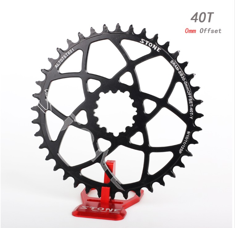 HOT SALE] Stone BB30 Chainring Round 0MM 0 mm Offset for