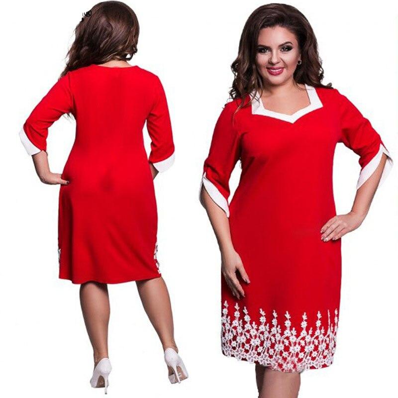 6XL Elegant Ladies Women Dress Fashion Sexy Party Plus Size Maxi Straight Dresses Casual Loose Large Sizes Slim Office Vestidos