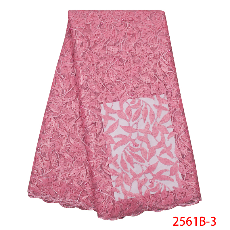 Hot Sale African Lace Fabric with Sequins Latest Pink Tulle French Net Lace Fabric High Quality