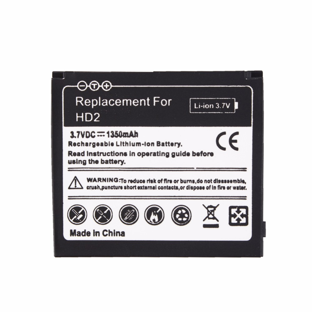 1350mAh Replacement Battery For <font><b>HTC</b></font> <font><b>HD2</b></font> Touch <font><b>HD2</b></font> <font><b>T8585</b></font> <font><b>HTC</b></font> LEO Cell Phone Rechargeable commercial Battery Bateria image