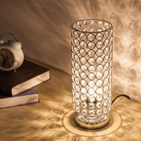 Crystal Lampshade Creative Study Bedroom Lamp Bedside Night Light Birthday Gift Crystal Decoration Small Table Lamp