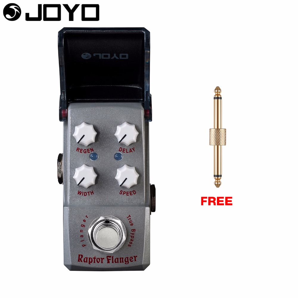 Joyo Raptor Flange Modulation Guitar Effect Pedal Delay Control Regen Control True Bypass JF-327 with Free Connector mooer ensemble queen bass chorus effect pedal mini guitar effects true bypass with free connector and footswitch topper