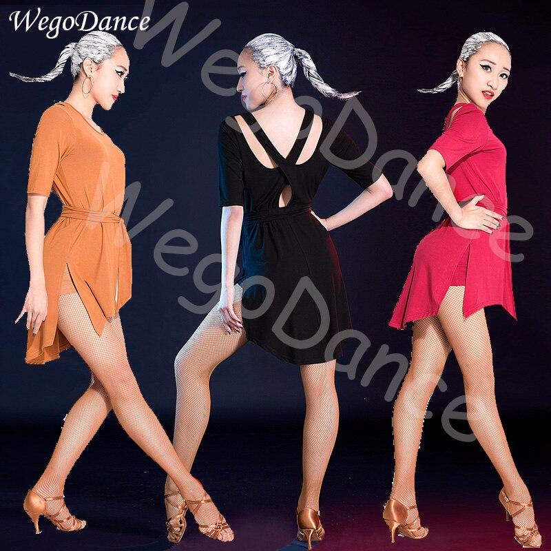 Nouveau dos nu sexy danse latine robe salsa costume femme livraison gratuite