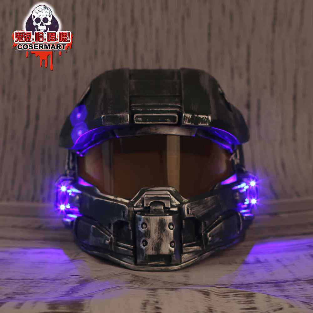 Halo 4 Helmet Prop Replica Cosplay Costume Full Head Mask PVC Equipment Master Chief Game Accessories (2)