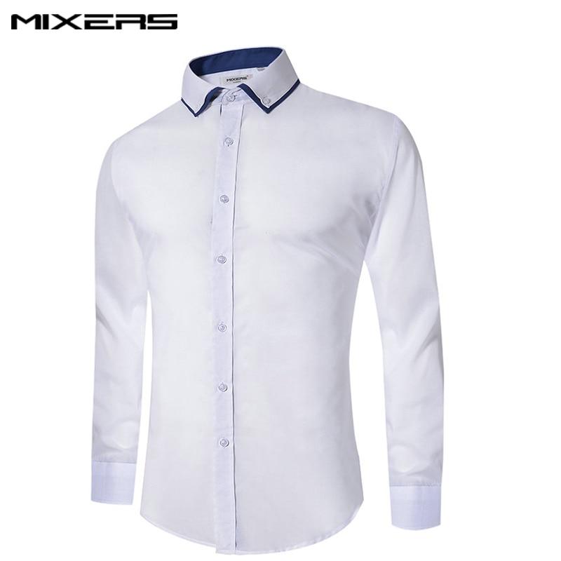 2018 New Design Casual Shirt Men Long Sleeve Big Size Mens Cotton Business Formal Shirt Slim Fit Casual Dress Shirts Men Camisas in Casual Shirts from Men 39 s Clothing