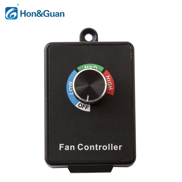 Hon&Guan 350W  Variable Dial Router Centrifugal Inline Duct Exhaust Fan Speed Controller
