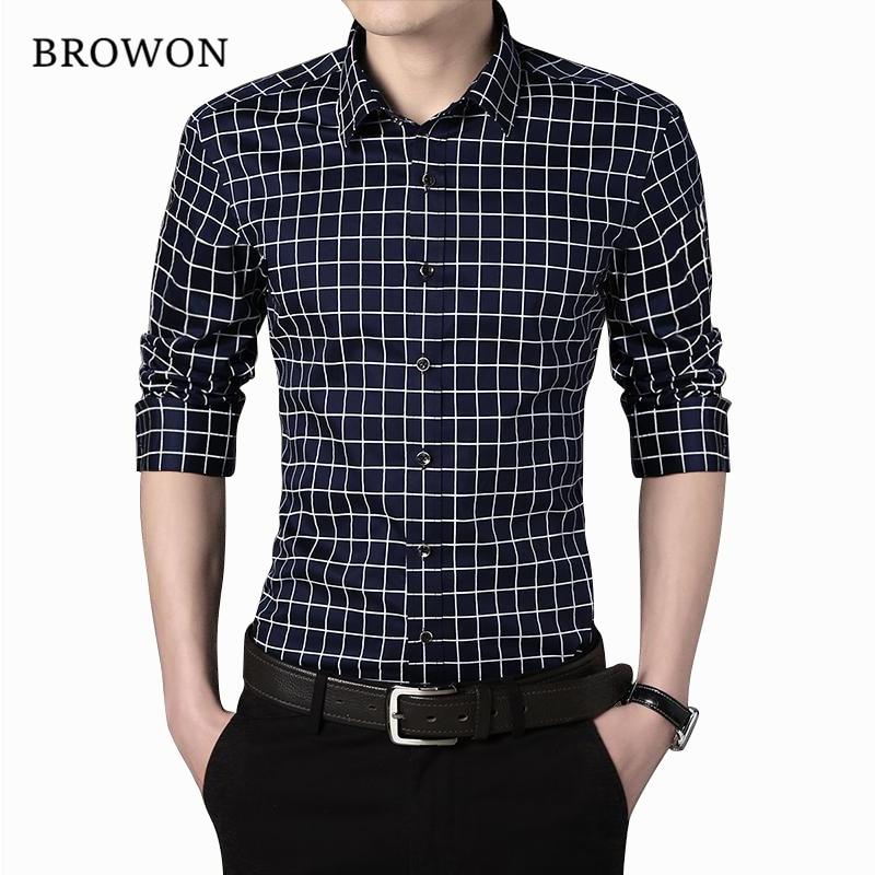 Plus Size 5XL 2018 nieuwe mannen Shirt merk Casual heren Shirt met lange mouwen geruit overhemd Heren Hoge kwaliteit Mannen Shirts herenkleding