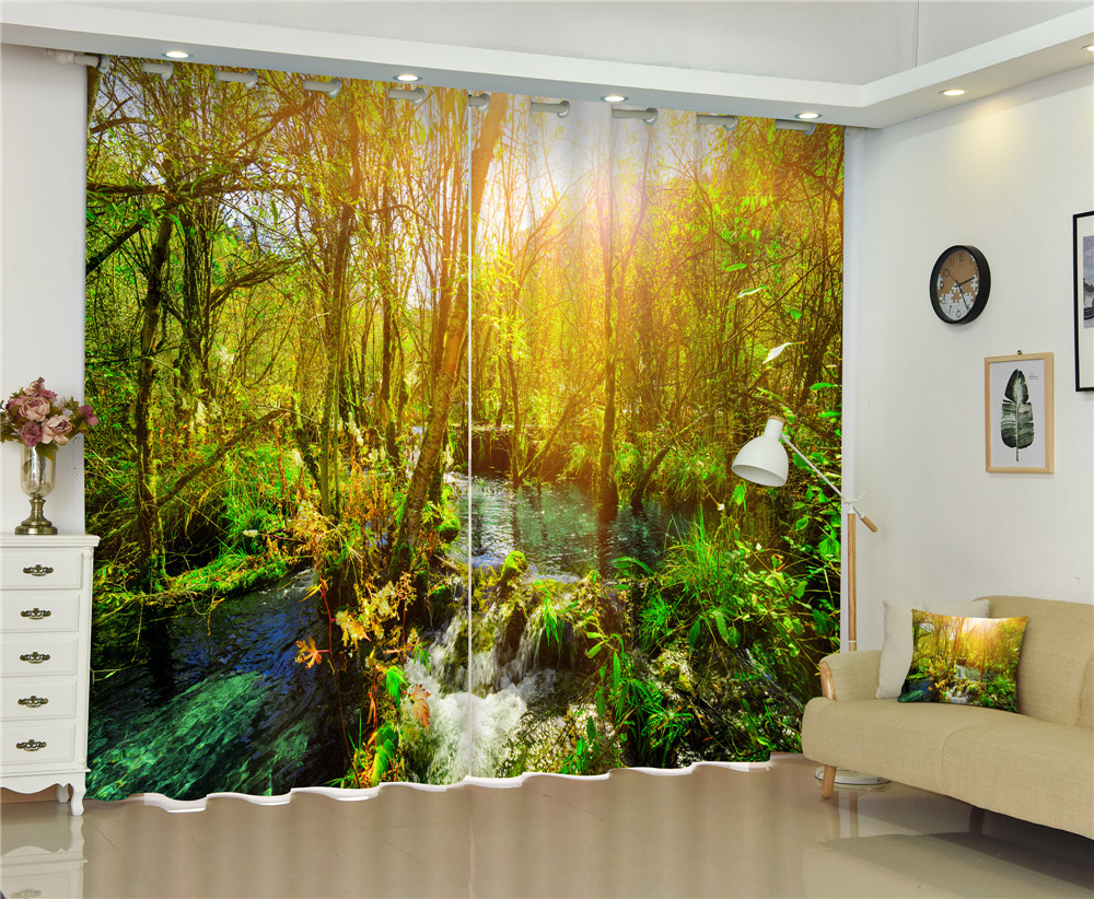 Curtains Waterfall Luxury 3D Blackout Curtains for Living Room office Bedroom Window Curtains Rideaux Cortinas Customized size Curtains Waterfall Luxury 3D Blackout Curtains for Living Room office Bedroom Window Curtains Rideaux Cortinas Customized size