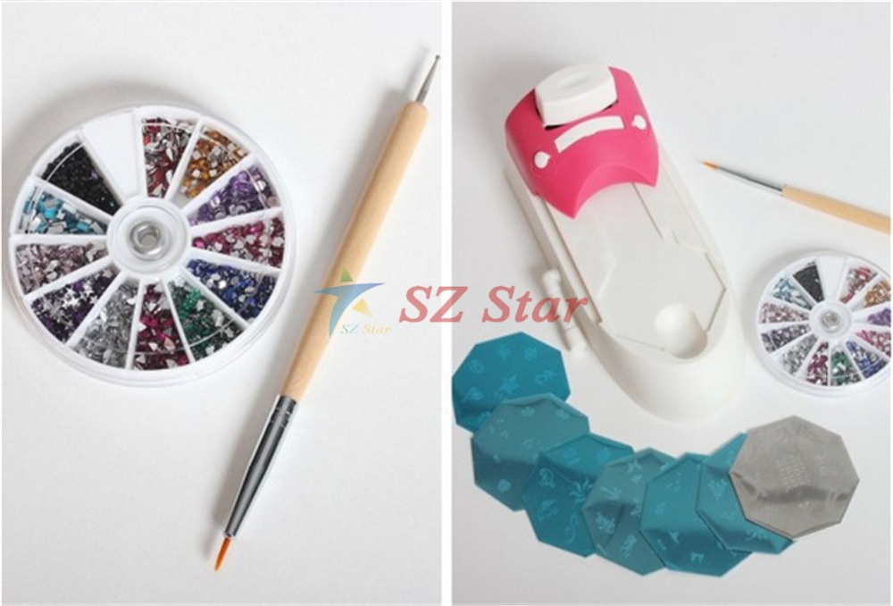 Tv hot hollywood nails all in one nail art system professional art tv hot hollywood nails all in one nail art system professional art kit set nail art tool free shipping in nail art equipment from beauty health on prinsesfo Gallery