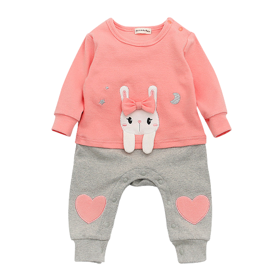 2017 Baby Rompers Cotton Long Sleeve 0-24M Baby Clothing Overalls for Newborn Baby Clothes Boy Girl Romper Ropa Bebes Jumpsuit baby overalls long sleeve rompers clothing cotton dog anima 2017 new autumn winter newborn girl boy jumpsuit hat indoor clothes