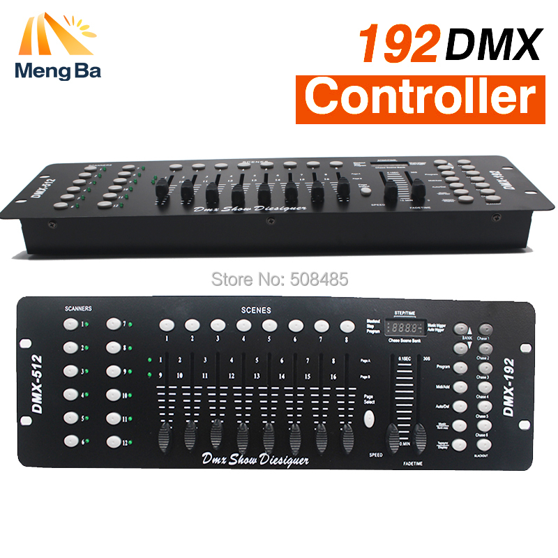 2PS NEW 192 DMX Controller DJ Equipment DMX 512 Console Stage Lighting For LED Par Moving Head Spotlights DJ Controlle hot sale lcd wireless dmx 512 transmitter and receiver for stage light moving head dj equipment led lighting 4 output