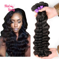 7A Halo Lady Hair Loose Deep Wave Weave Human Hair Extesnions 4pcs/lot 400 gram Loose Deep Wave Brazilian Virgin Hair Bundles