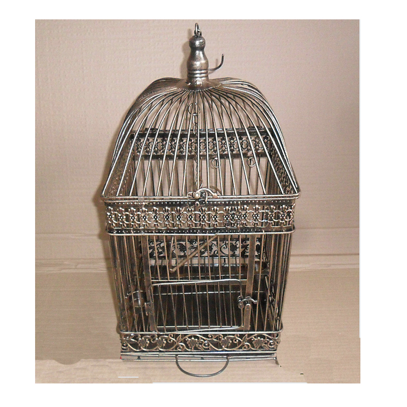 Mode perroquet oiseau Cage alimentation oiseau remise Cage à oiseaux Pet taille personnalisée noir blanc cuivre couleur