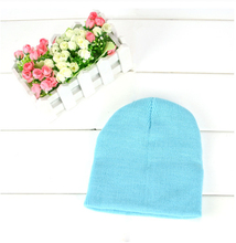 13 Colors Sale Cute  Knitted Beanies Hat Winter Warm Cotton Caps For Baby Boy Girl Children
