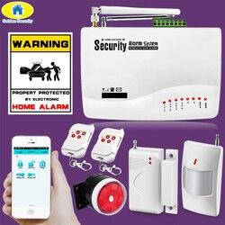 Kontrola aplikacji bezprzewodowy system alarmowy GSM podwójna antena bezpieczeństwa systemów alarmowych domu GSM 850/900/1800/1900 MHz, hiszpański/ rosyjski/angielski