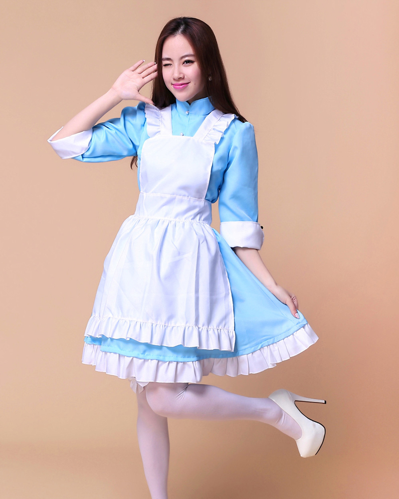 Shanghai Story <font><b>Lolita</b></font> <font><b>Dress</b></font> Set Halloween Adult Women's Marry Costumes For Girls image
