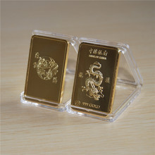 30pcs free shipping, 1 Oz 24k Gold-Plated China - Bank of gold plated Bar, Decoration and Collection
