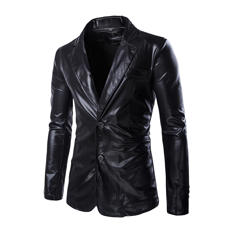 20018 Autumn arrived men's Jacket Slim fit Stage cosplay Coats 2 buttons Suits Coat with fake pocket Plus size M-3XL Moto Jacket
