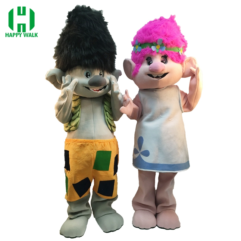 2019 nouveau Troll mascotte Costume Trolls personnage mascotte défilé qualité Clowns anniversaires Troll déguisement fête mascotte Costume