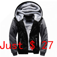 The North Of Plus Size 5XL Winter Jackets Men Warm Fur Hooded Warm Parka Men 2017