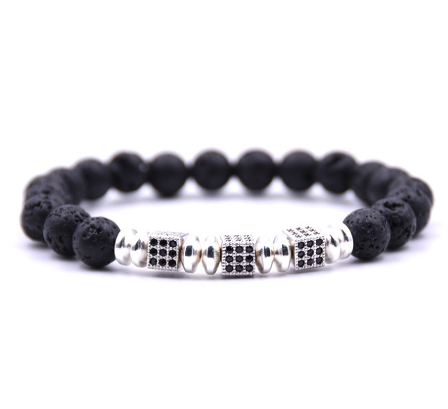Essential Oil Lava Stone Diffusing Bracelet Health & Beauty Aromatherapy Jewellery With Gems.