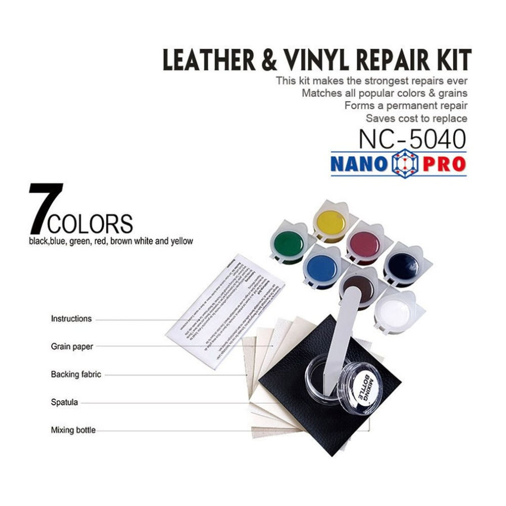 Liquid Skin Leather Auto Car Seat Sofa Coats Holes Scratch Cracks Rips No Heat Leather Vinyl Repair Kit(China)