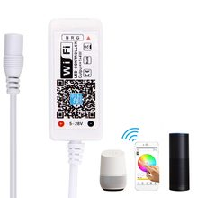 SuperNight Smart Wifi Controller for 5050 3528 RGB LED Strip Light DC 12V 24V Timer Music Alexa Magic Home Android iOS Dimmer(China)