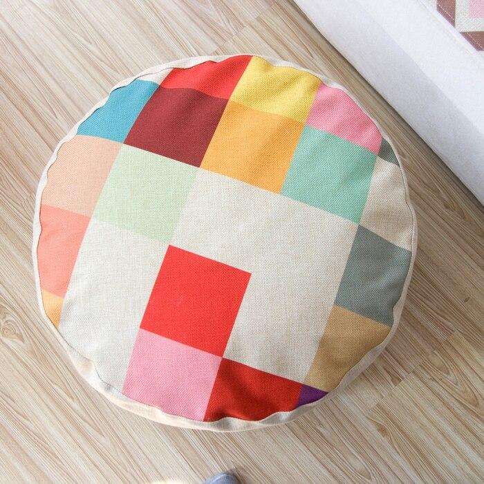 Motifs géométriques couleur plaid coussin oreiller style paresseux linge méditation almohada futon tatami petit canapé coussins 15 cm d'épaisseur