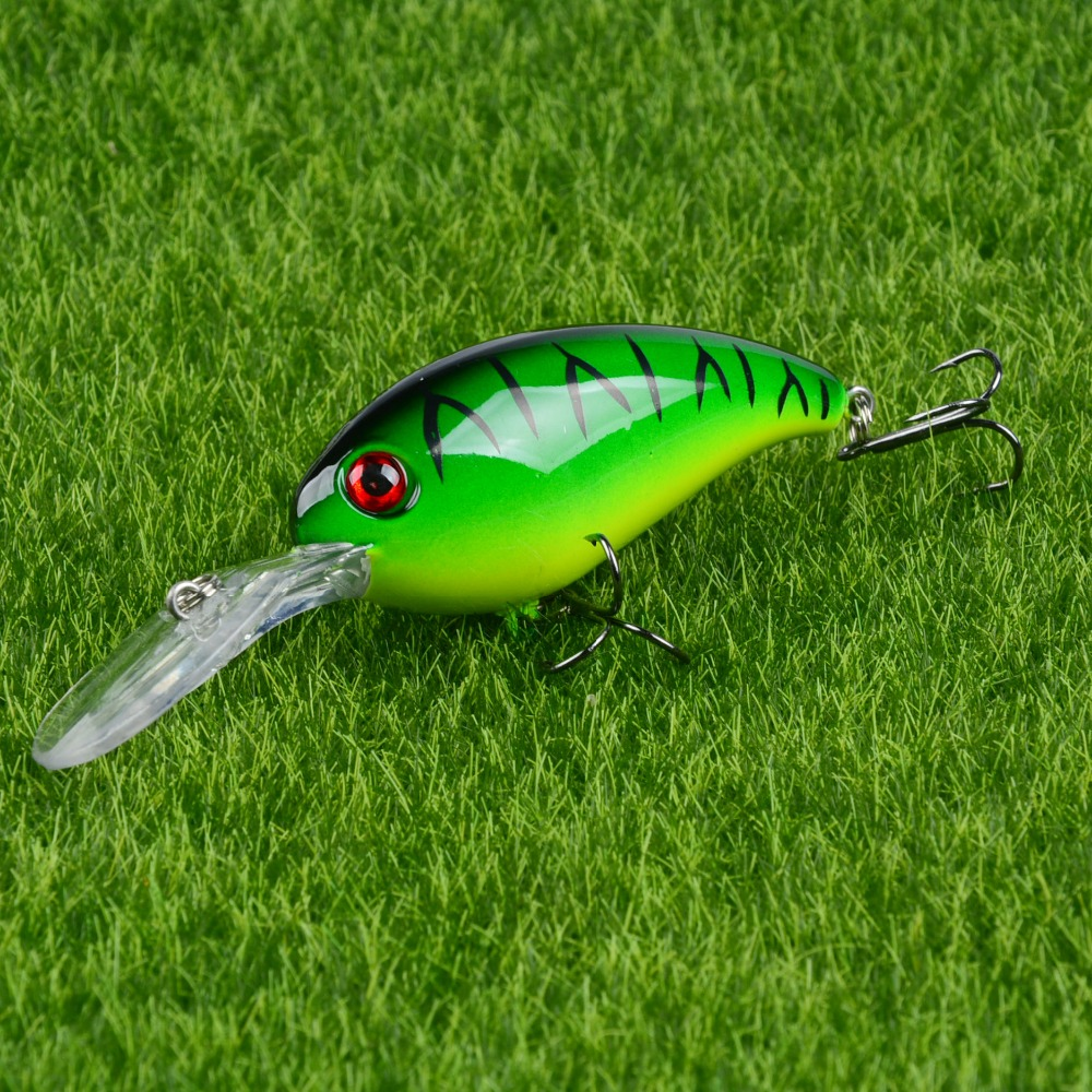New Baits Crank Fishing Lures 7.5cm//10.2g Fishing Wobblers 3D Eye-Bassbaits