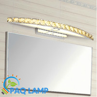 LED Mirror Lamp Size42*6cm Antirust Brushed AC90V 260V power10W Aluminum and crystal shell wall Bathroom fixture ceiling Lamp