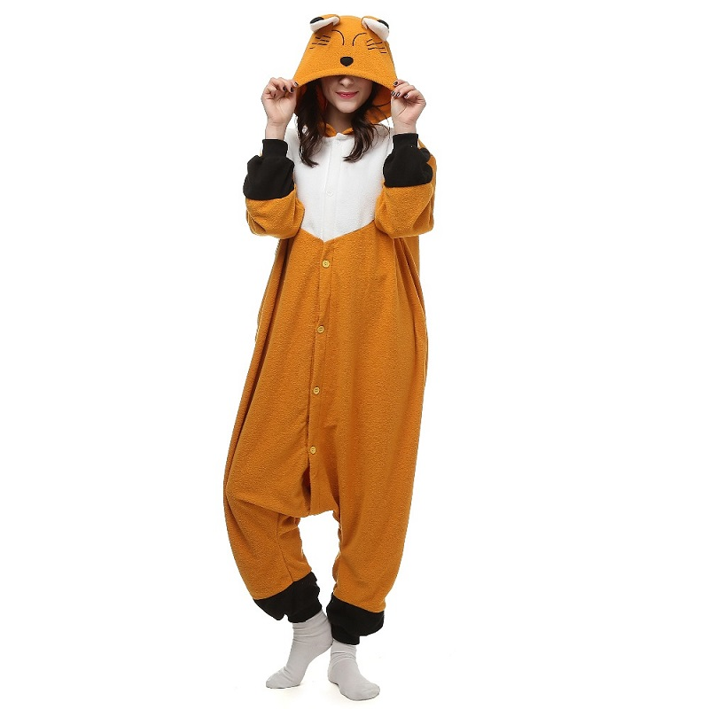Christmas  Nice Animal Pajamas Fox Homewear Unisex Hoodie Onesies Sleepwear Robe For Men Women Adults