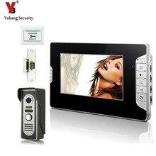 YobangSecurity 7″ Video Door Phone Video Door bell Intercom Monitor Night Vision Camera Doorbell With Door Lock for Apartment