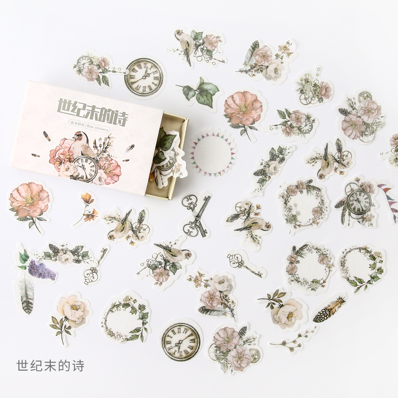 Poetry End Of Century Bullet Journal Decorative Stationery Stickers Scrapbooking DIY Diary Album Stick Lable