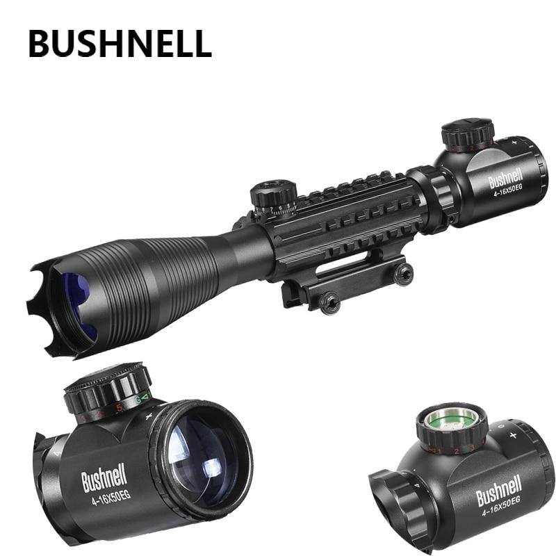 все цены на 4-16x50 Red Green Lens Illuminated Reticle Riflescope Sniper Scope Black 20mm Rail 2018 Fishbone Mounts For Hunting онлайн