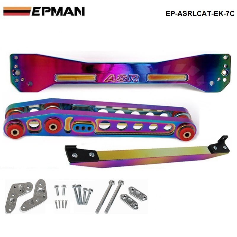EPMAN - JDM Neo chromatic REAR SUBFRAME TIE BAR + LOWER CONTROL FOR HONDA CIVIC EK 96-00 TK-ASRLCAT-EK7C деталь шасси tansky epman honda civic 88 95 ep eg